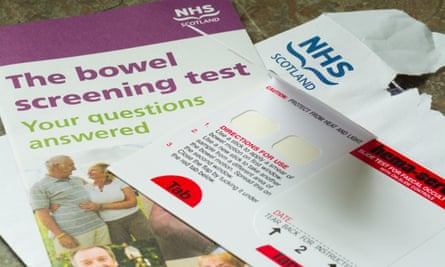 Bowel Screening test kit provided by post to over 50s by the NHS Scotland