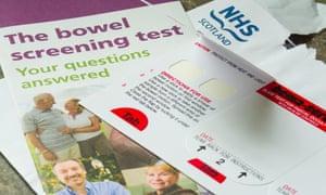 A bowel screening test kit