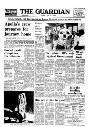 22 July 1969 Guardian front page