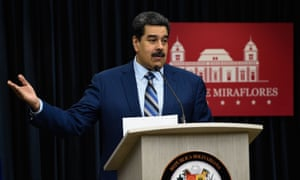 Nicolás Maduro speaks during a press conference at the Miraflores palace in Caracas, Venezuela on 12 December.
