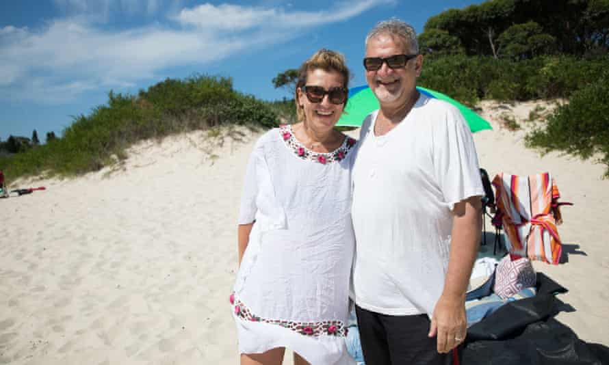 Elfa and Bill: 'It's a great place to swim without being beaten up by the waves of other beaches.'