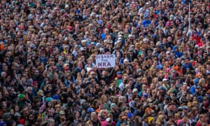 Students from Marjory Stoneman Douglas High School were joined by over 800,000 people at a gun control protest in February 2018.