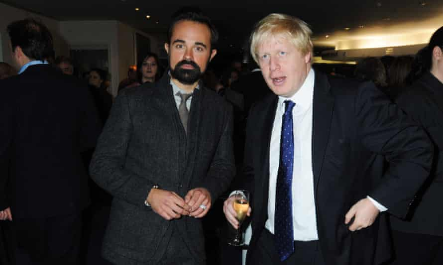 Evgeny Lebedev and the then London mayor, Boris Johnson, attend the reception for the London Evening Standard theatre awards in 2009.