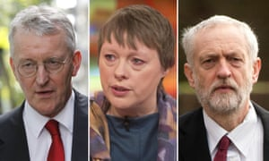 Hilary Benn, Maria Eagle and Jeremy Corbyn