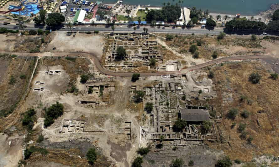 A 2014 aerial photo of the site of the mosque in Tiberias, northern Israel