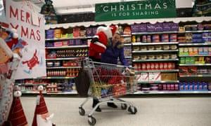 Sainsbury's store at Christmas