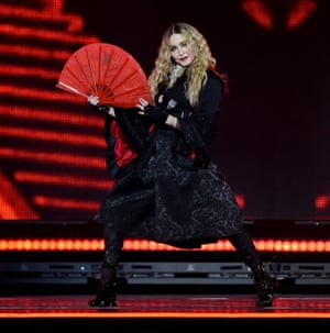 Relaxed and comfortable … Madonna.