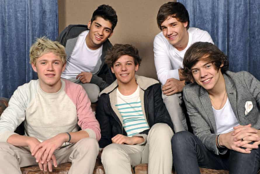 One Direction (from left): Niall Horan, Zayn Malik, Louis Tomlinson, Liam Payne and Harry Styles