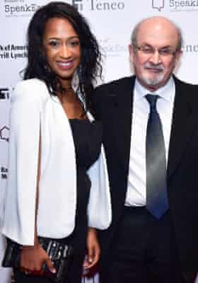 Rachel Eliza Griffiths and Salman Rushdie attend House Of SpeakEasy 2019 Gala, February 28,  New York