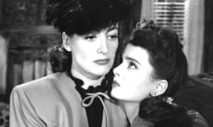 Explosive combination ... Joan Crawford and Ann Blyth in Mildred Pierce.