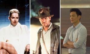 Sharon Stone in Basic Instinct, Harrison Ford in Indiana Jones and John Cho in Columbus