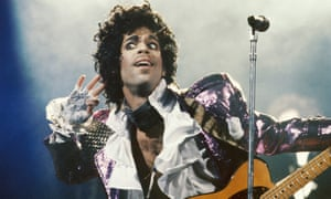 Prince in concert in 1985
