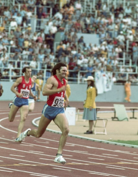 Bruce Jenner competing in the decathlon at the 1976 Montreal Olympic Games.