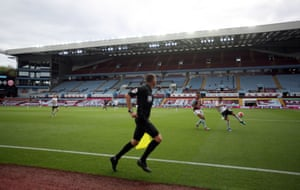The Premier League returns at Villa Park in front of empty stands