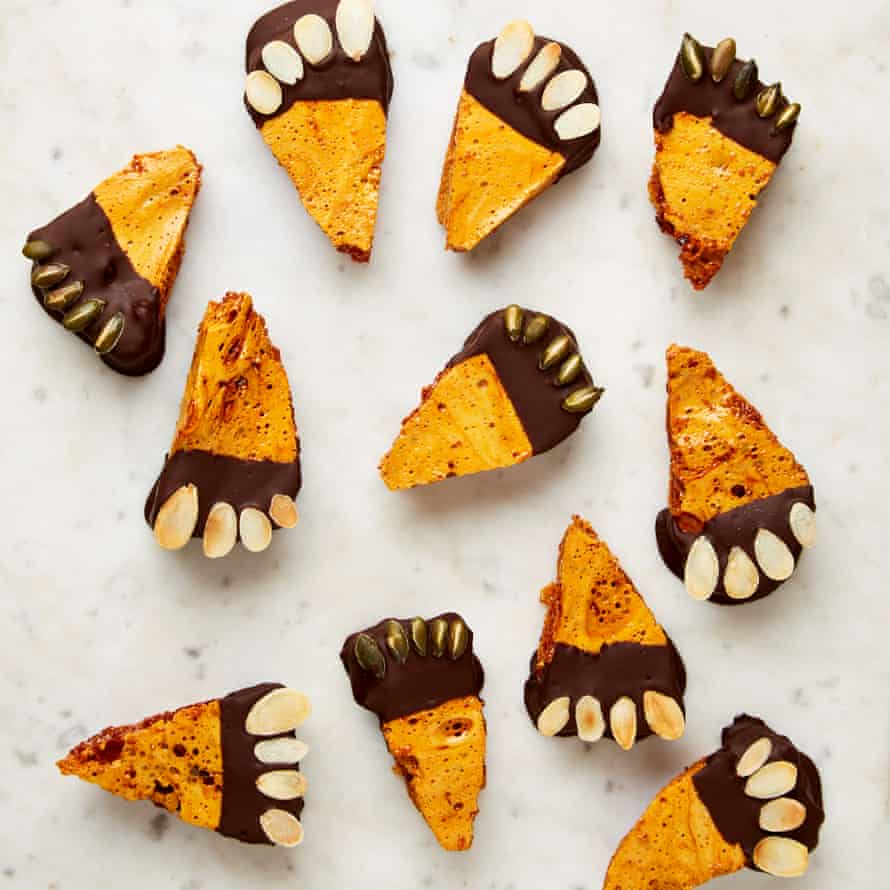 Yotam Ottolenghi's honeycomb and chocolate monster feet