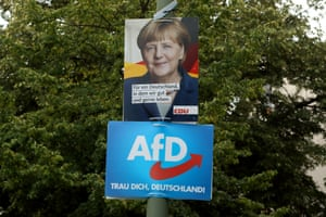 CDU and AfD federal election campaign posters