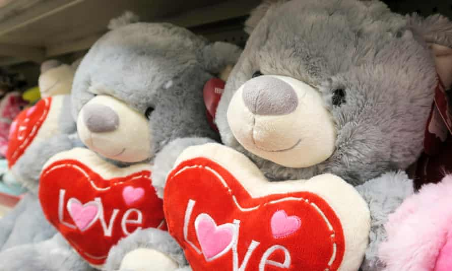 Teddies with hearts