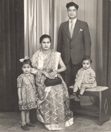 Snapshot … from left, Anita's sister Shobana, her mother, Kamal, her dad, Ram Lal, and brother Anil, in 1952 while they were living in Nairobi
