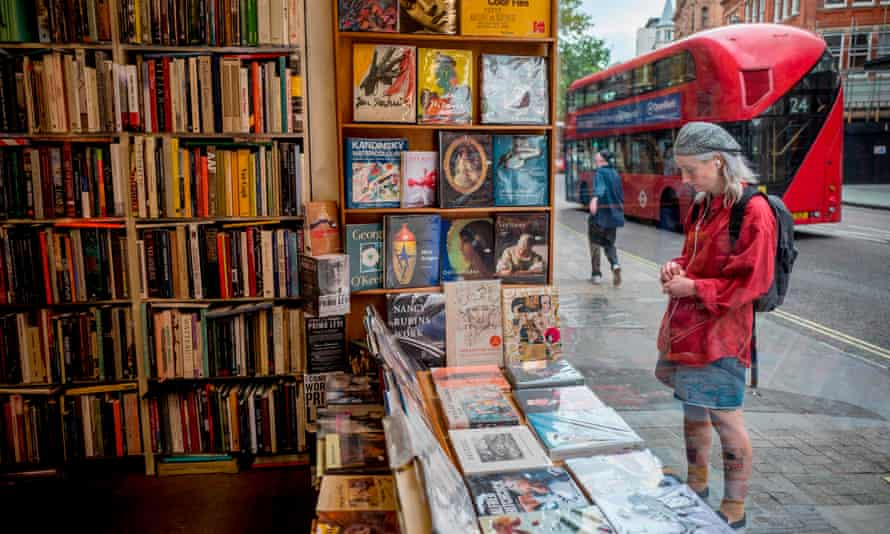 ... the window of Henry Pordes secondhand book shop in central London.