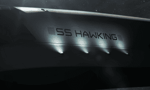 Stephen Hawking's CGI spacecraft, the SS Hawking.