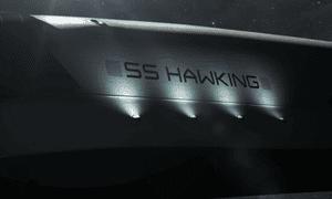 Stephen Hawking's CGI spacecraft, the SS Hawking.