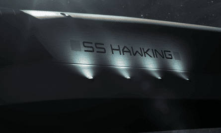 The SS Hawking navigating space.