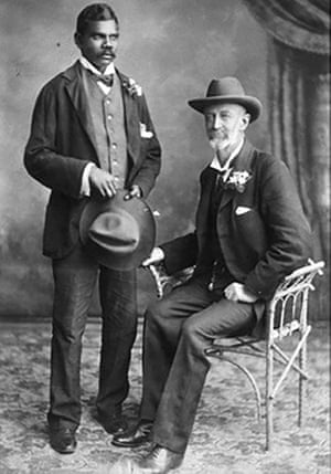 Frank Hann (right) with his assistant Talbot.
