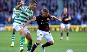 Filip Benkovic (left) played in the win over Hearts.