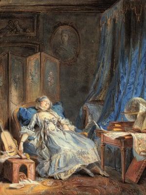 Pierre-Antoine Baudoin's 1760 painting La Lecture (The Reader).