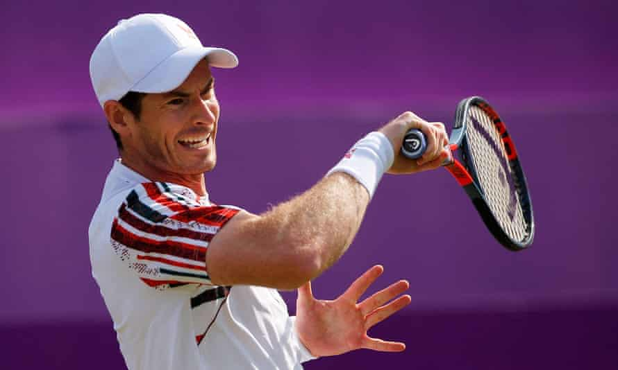 Andy Murray, the two-times Wimbledon champion, played just his third ATP singles match of the year in London at Queen's Club on Tuesday.