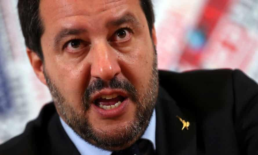 Italian deputy prime minister, Matteo Salvini, in Rome, Italy December 2018.