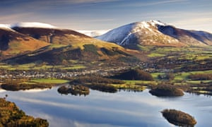 Skiddaw, as seen from Cat Bells in the Lake District