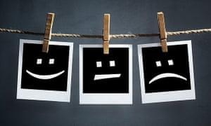 Happy, sad, neutral emoticons
