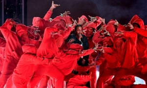 Kendrick Lamar's performance at the 2018 Grammy awards last month.