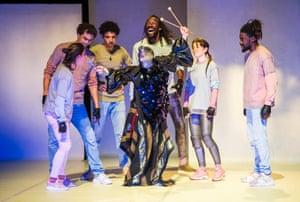 Creation myth … the musician Gwenaël Drapeau plays a spooky shaman in Scandale.