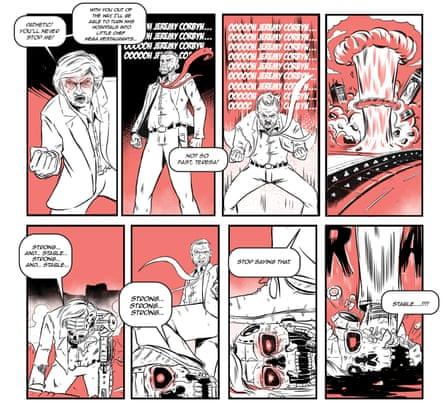 Lethal Corbyn III: text © Chris Baker, illustrations © Joe Totti'