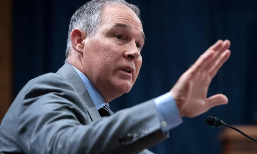 Scott Pruitt, the Environmental Protection Agency administrator.