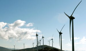 The Alto Minho windfarm.
