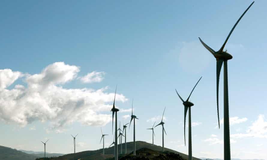 The Alto Minho windfarm.