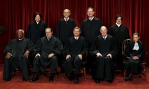 The US supreme court is divided on the death penalty issue, with Antonin Scalia, front row, second left, leading the conservatives, and Stephen Breyer, back row, second left, among the liberals.