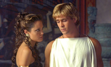 With Colin Farrell in Alexander.