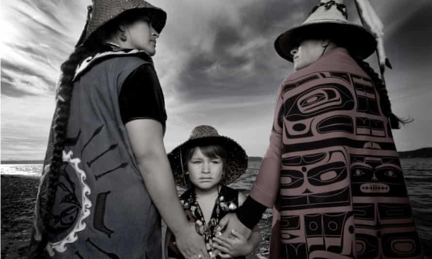 Darkfeather, Bibiana and Eckos Ancheta from the Tulalip Tribe