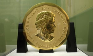 The 'Big Maple Leaf' coin that was stolen from the Bode Museum in Berlin
