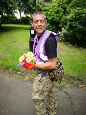 Stuart Potts, who runs the Saving People Shelter Project.