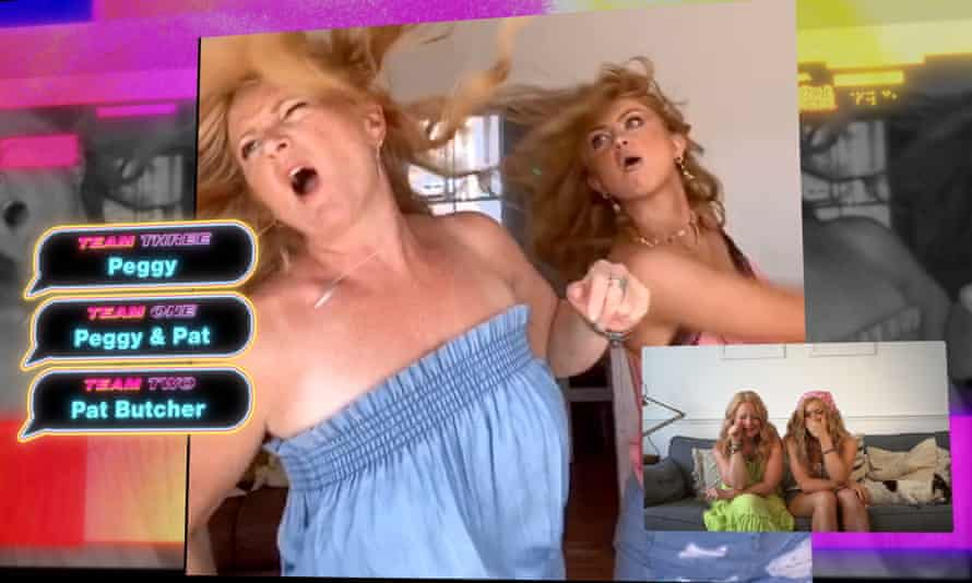 Maisie Smith and her mother reenact a scene from EastEnders