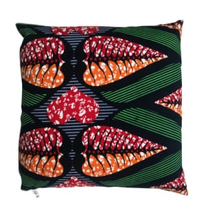 African print cushion, £25, in 100% cotton authentic block wax fabric, cupandcloth.com