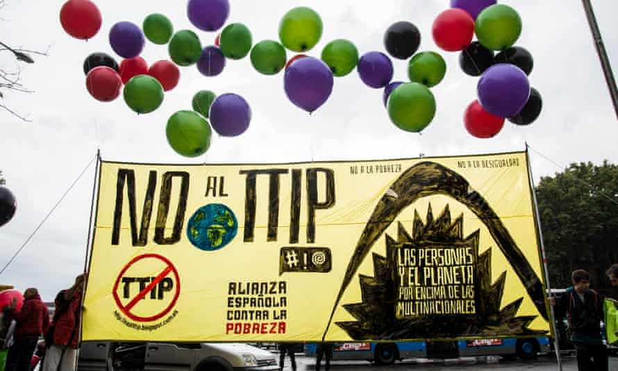 Anti-TTIP protesters in Madrid
