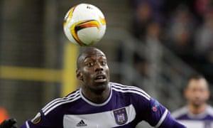 Stefano Okaka playing for Anderlecht