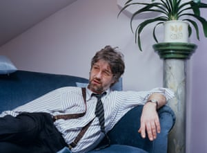 Playwright Willy Russell in his Liverpool office in 1988. He worked as a hairdresser before becoming a playwright and gave his heroine the same job.