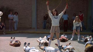 Parker Posey as Darla Marks in Dazed and Confused, the 1993 coming of age stoner comedy film by Richard Linklater, that follows various groups of Texas teenagers during the last day of school in 1976.
